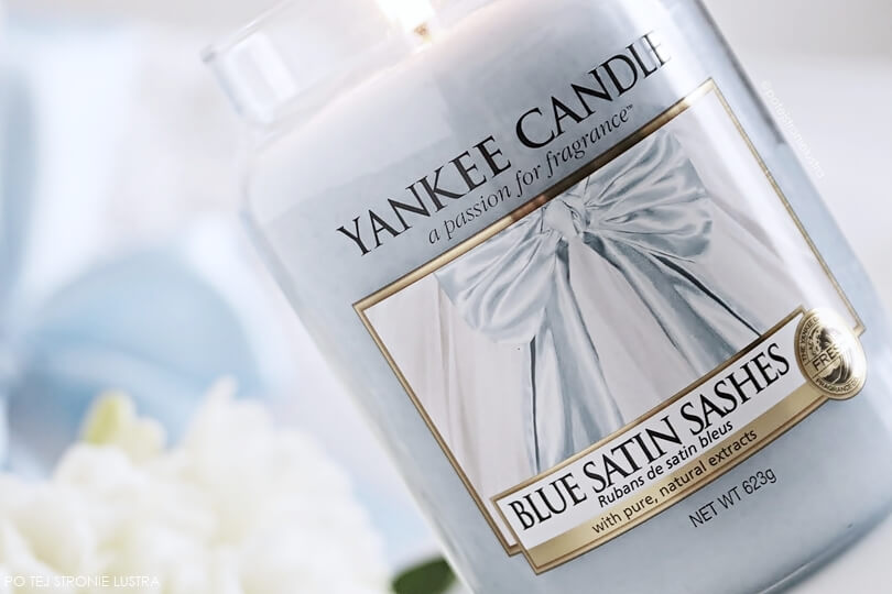 blue satin sashes yankee candle etykieta