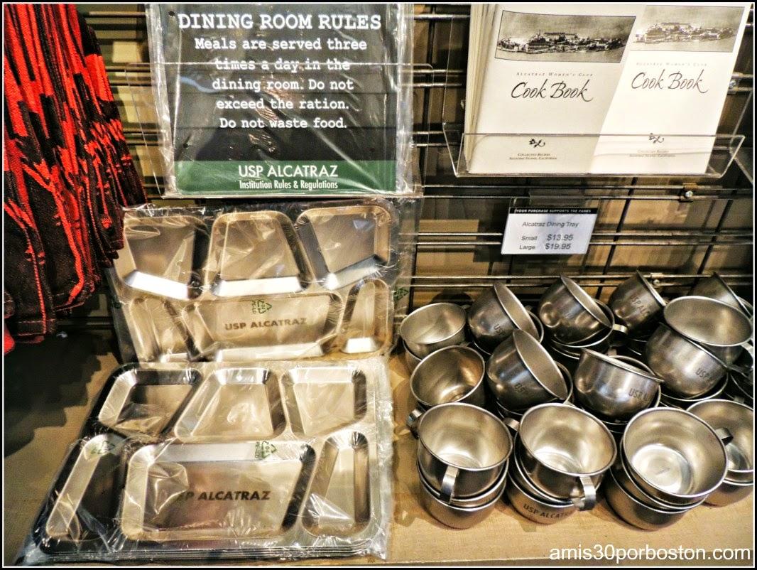 La Prisión de Alcatraz: Libro de Cocina con los Menús en la Tienda de Recuerdos