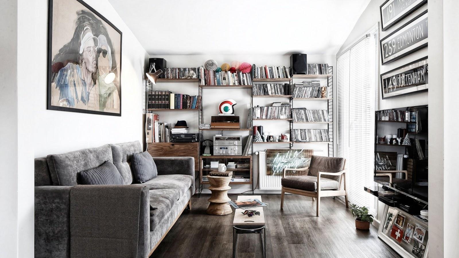 Amenajare masculină și de impact pentru un apartament de numai 41 m² din Turcia