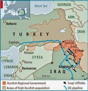 oil pipelines iraq turkey