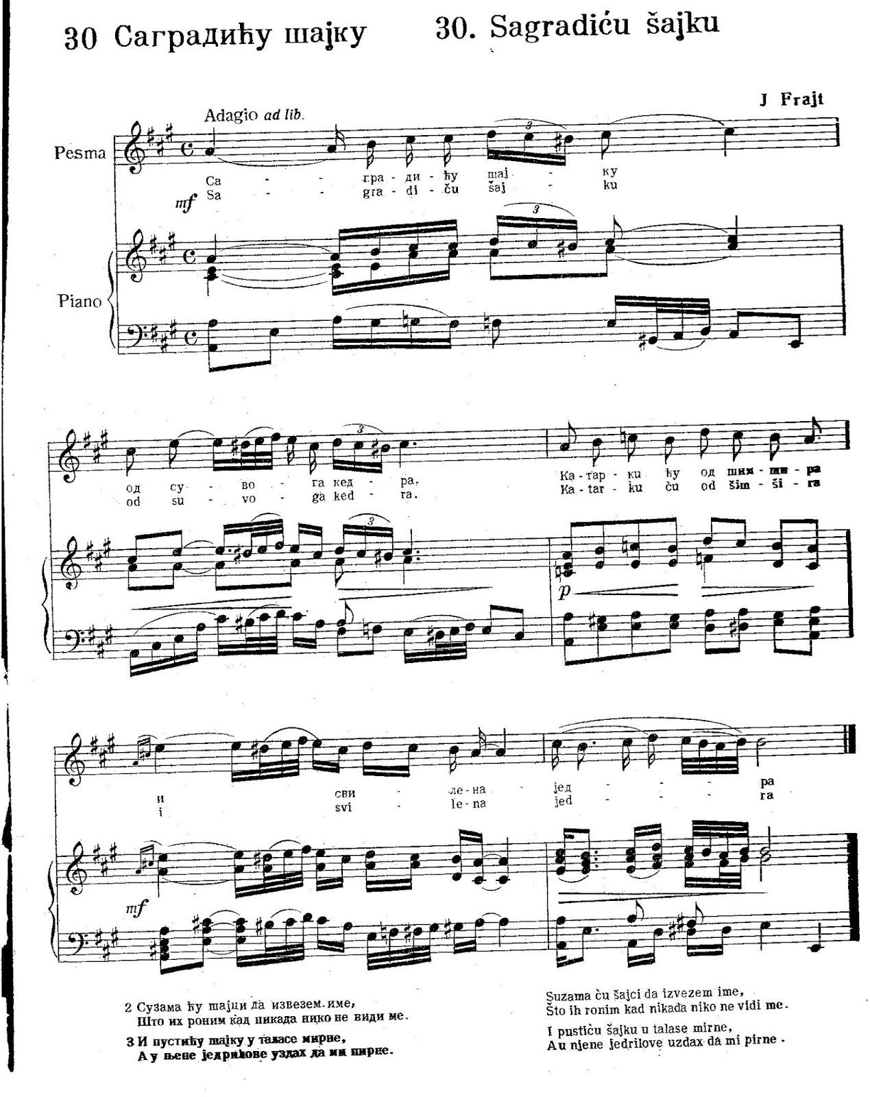Scores For Balkan Music Note Za Harmoniku Violinu