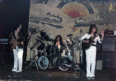 The band Talshia on stage at The Rising Sun rock club