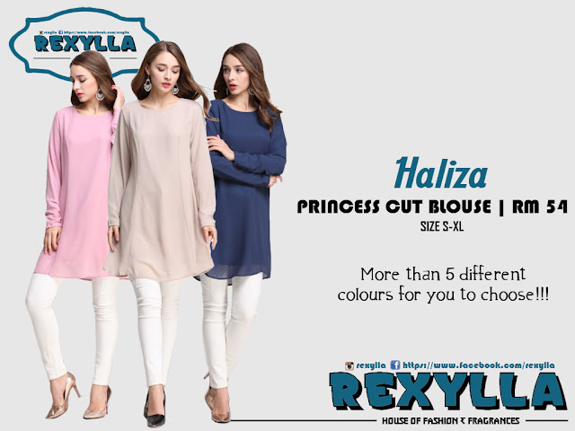 rexylla, princess cut, blouse, haliza collection