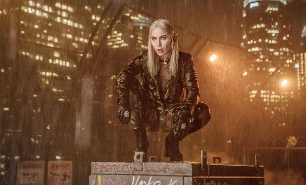 Noomi Rapace leads the group of evil elves as Leilah in BRIGHT (2017)