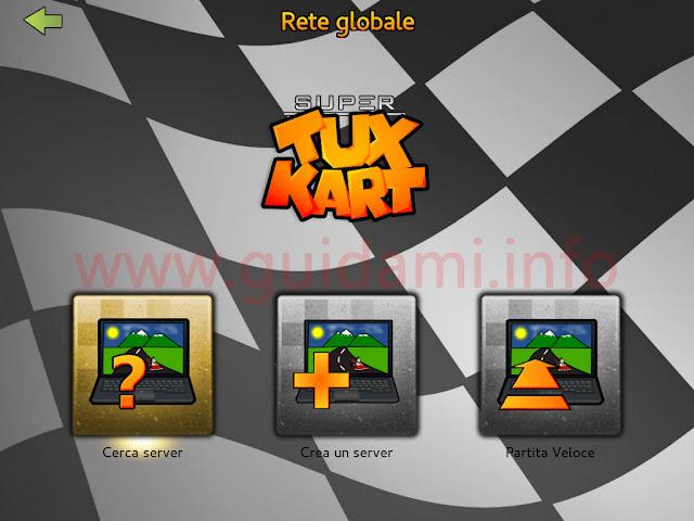SuperTuxKart schermata Rete globale