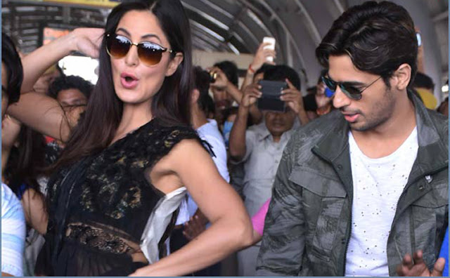 katrina kaif, siddarth malhotra flash mob dance at metro station