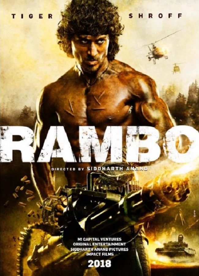 Rambo new upcoming movie first look, Poster of Tiger Shroff download first look Poster, release date