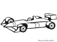 Formula One Racing Car Coloring Pages