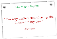 Steve Jobs says 'I am very excited about having the Internet in my den'