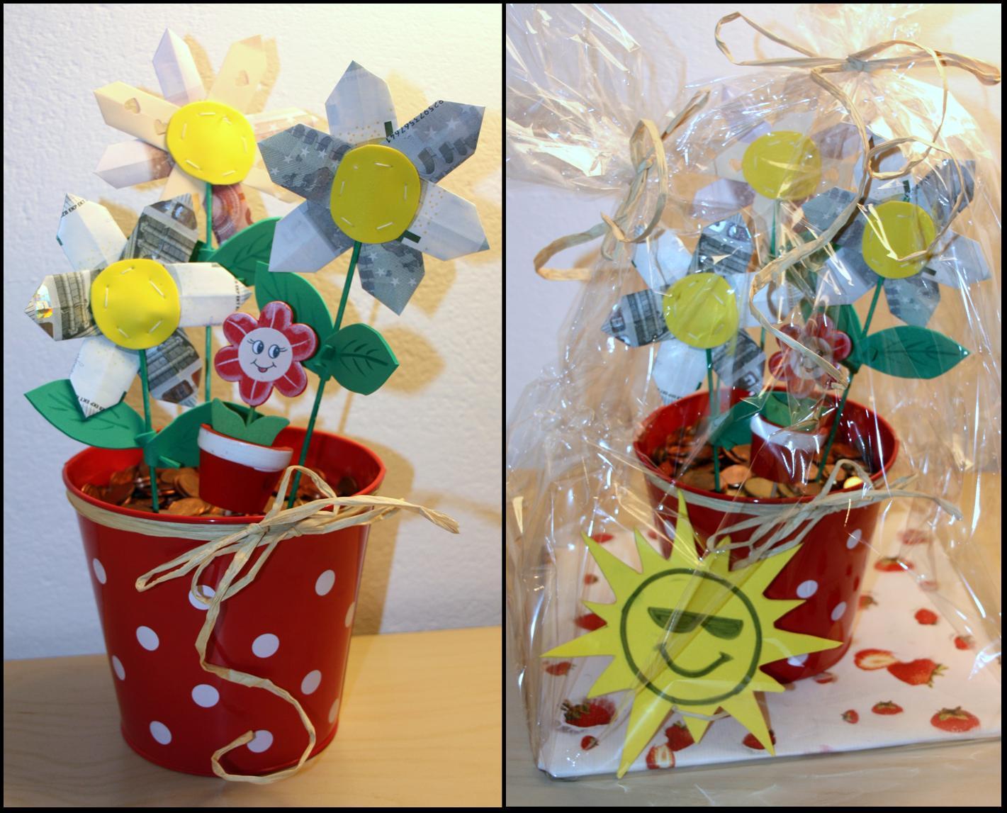 Werklstube Geldgeschenk Blumen Im Topf