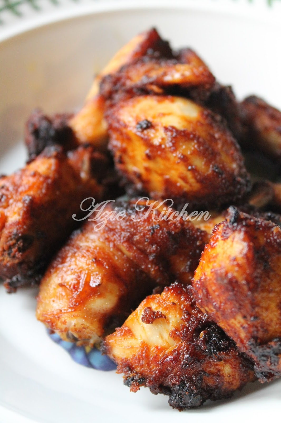 Ayam Goreng Berempah Madu Sedap - Azie Kitchen