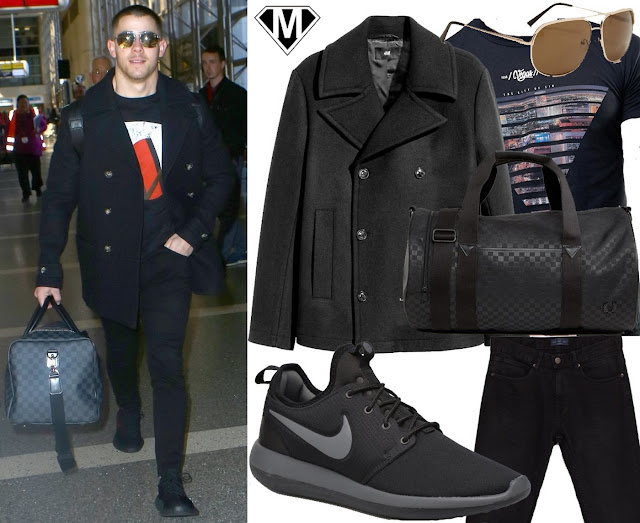 nick jonas airport outfit style