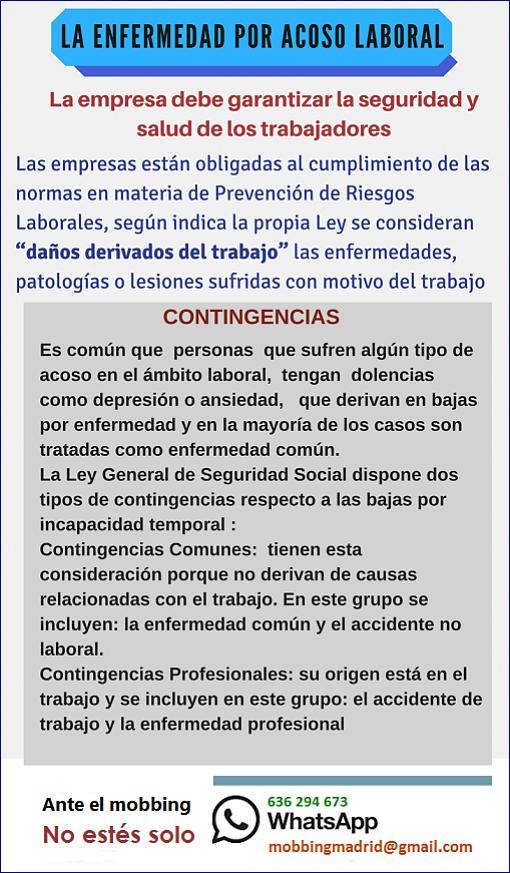 Mobbingmadrid La enfermedad por acoso laboral o mobbing