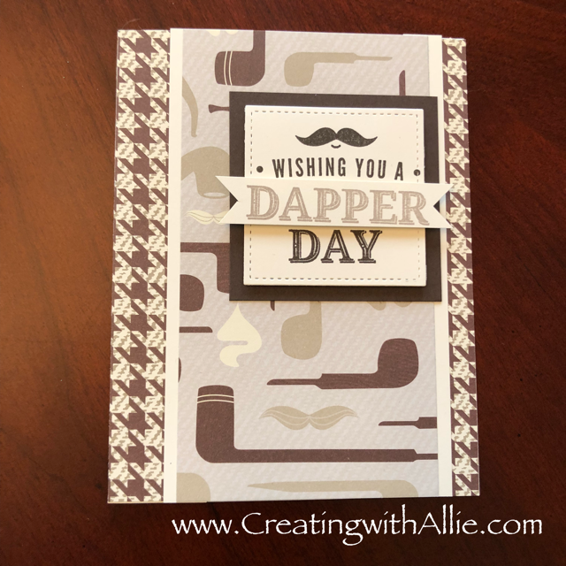 Check out the video tutorial with some AMAZING tips and tricks for making masculine cards using Stampin Up's truly tailored stamp set!  You will love how quick and easy this is to make!  www.creatingwithallie.com #stampinup #alejandragomez #creatingwithallie #videotutorial #cardmaking #papercrafts #handmadegreetingcards #fun #creativity #makeacard #sendacard #stampingisfun #sharewhatyoulove #birthdaycards #masculinecards