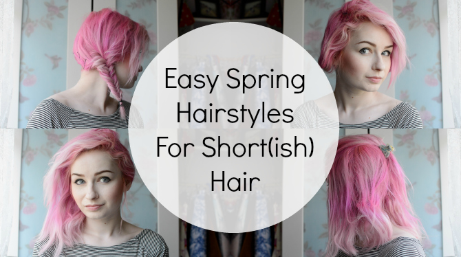 Q Hairstyles For Short Hair: 5 Easy Heat Free Spring Hairstyles For Short(ish) Hair