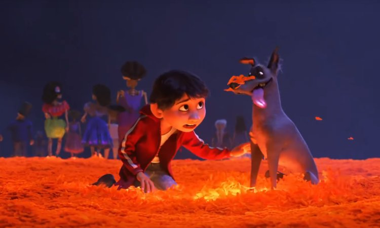 Boy with Dog in Coco Film