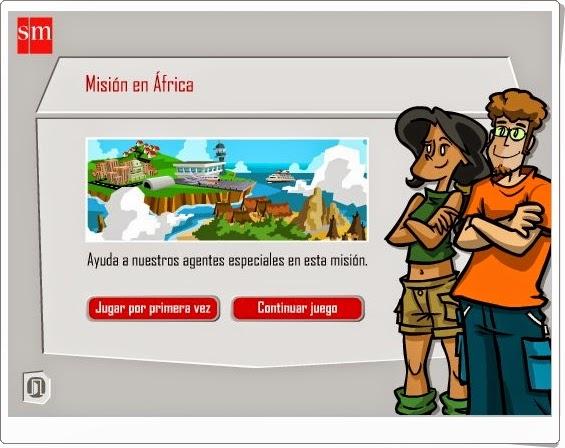 """""""Misión en África"""" (Aventuras interactivas de Lengua Española de 5º de Primaria)"""
