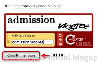 Cara Mendaftarkan Blog ke Google - add url