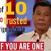 MUST SHARE: 8 sa kada 10 pinoy Mataas ang tiwala kay president elect Rodrigo Duterte - SWS