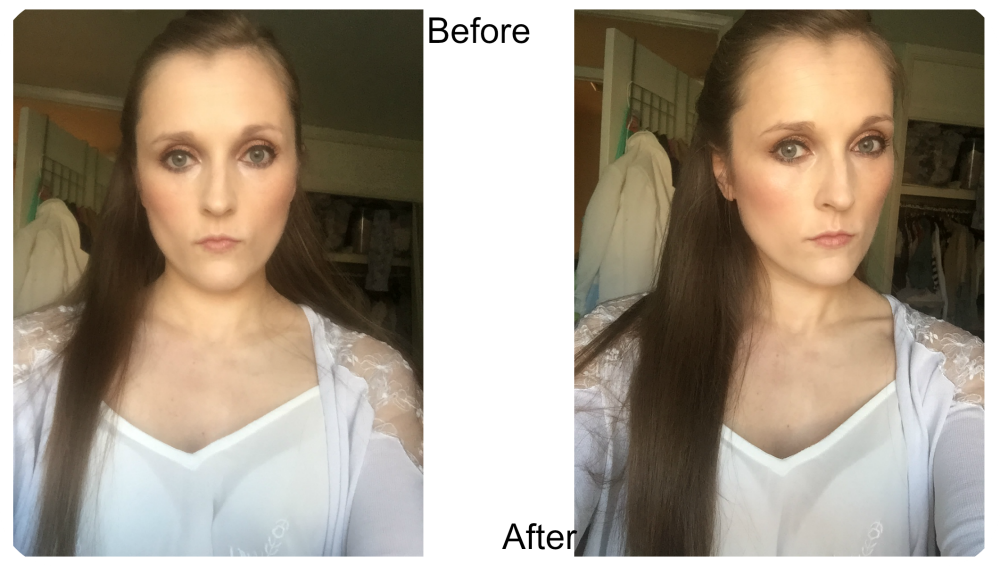 before and after sleek highlighting palette solstice