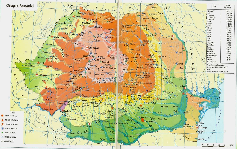 Romania Live Harta Demografica Romania