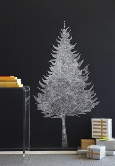 árbol navidad pizarra