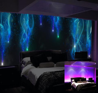 glow in the dark wallpaper glowing wall murals for bedrooms