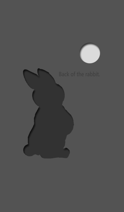 Back of the rabbit BLACK