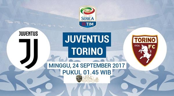 Prediksi Bola : Juventus Vs Torino , Minggu 24 September 2017 Pukul 01.45 WIB