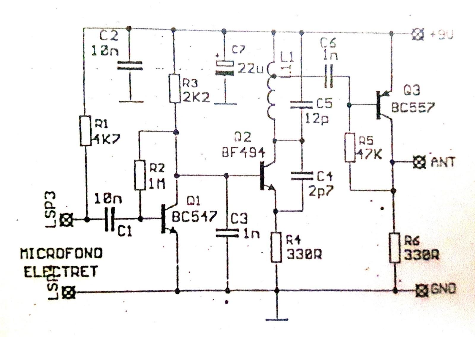 Circuito Transistor : Circuito transmisor espía fm mecatronica