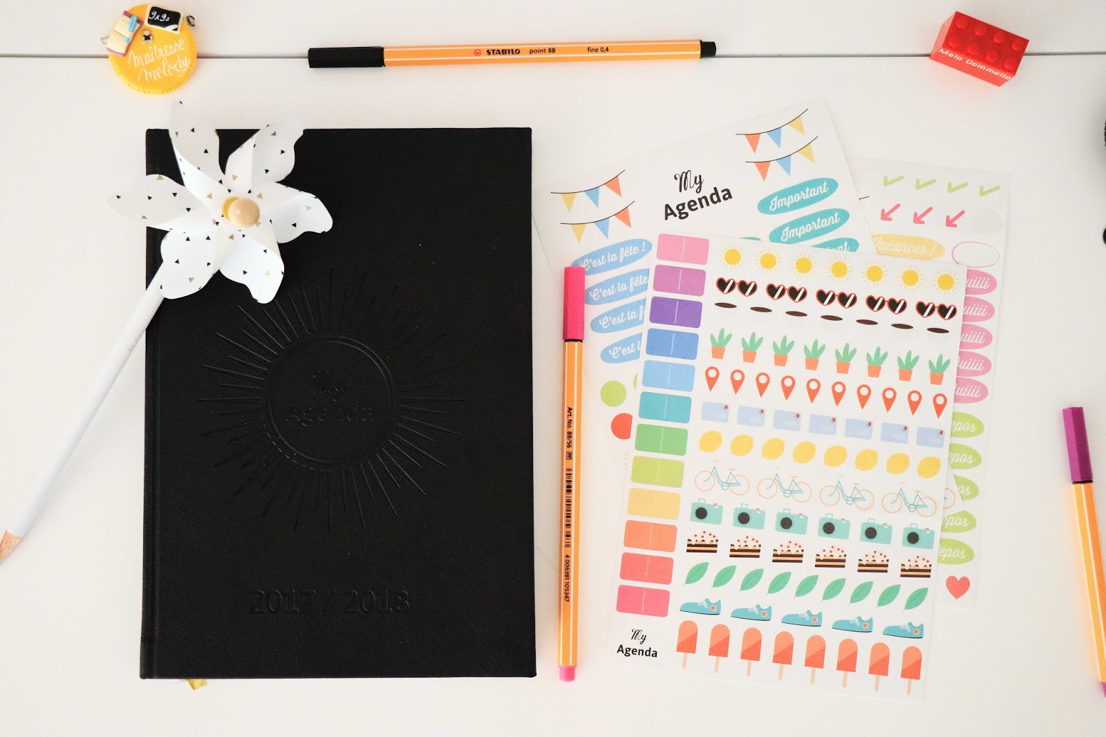 myagenda 365 agenda scolaire bullet journal bujo organisation maitresse ecole lycee universite facile comment concours à gagner made in france recyclé vegan