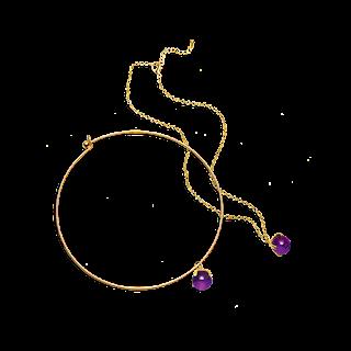 Κολιέ Maya Purple 2-1 Κωδικός: 28679 Δίνει Bonus Points:  3