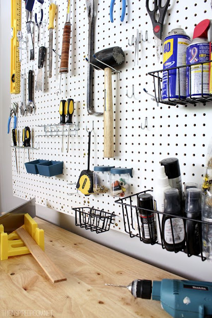 peg board ideas from Pinterest