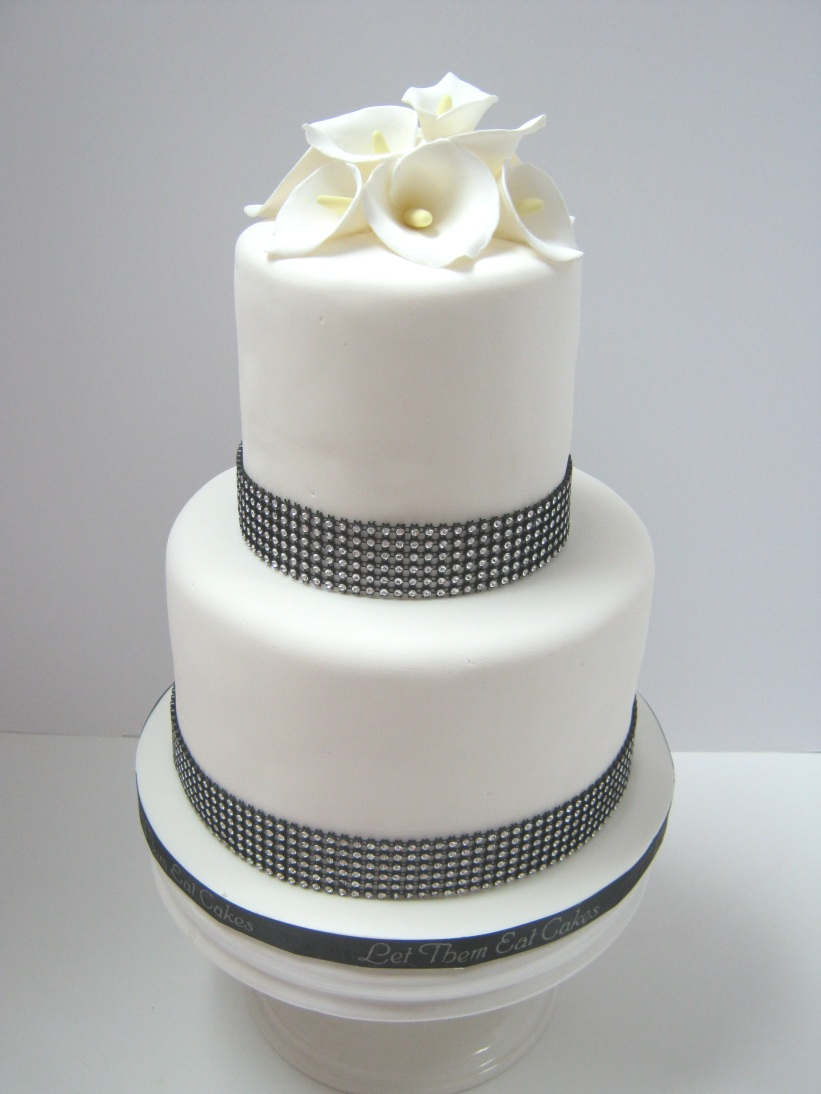 Let Them Eat Cakes  Calla Lily Wedding Cake Calla Lily Wedding Cake