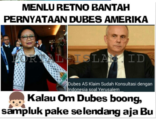 MEMANAS! Dubes AS Mengaku Sudah Konsultasi Dengan Menlu Indonesia Soal Yerusalem. BENARKAH?