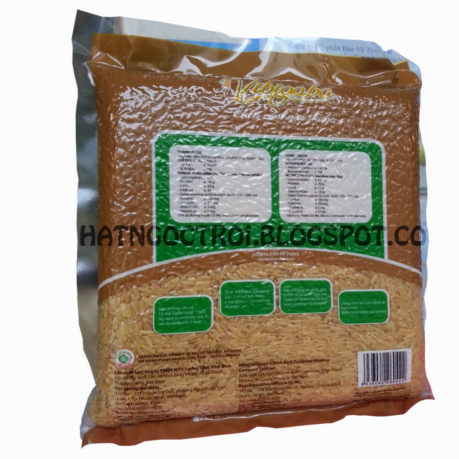 Bao bì mới của gạo mầm vibigaba