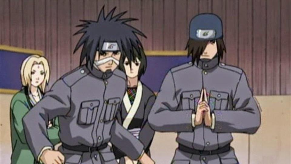 Izumo y Kotetsu, guardianes de la puerta de Konoha
