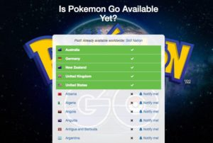 disponible pokemon go