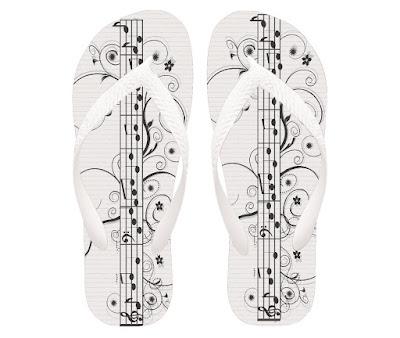 Chinelo personalizado para músicos