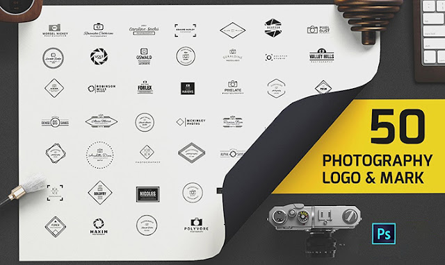 Share PSD 50 mẫu Logo dành cho Photographer