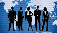 The image shows the group of business people.