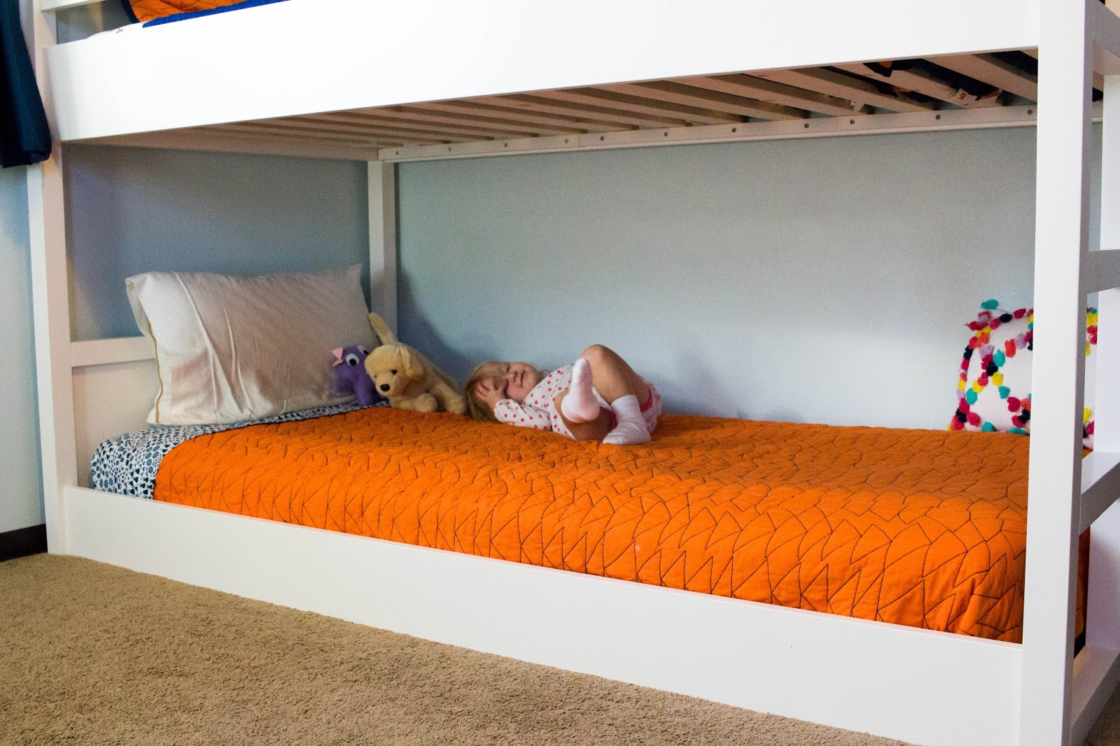 Very Low Bed Shared Montessori Bedroom