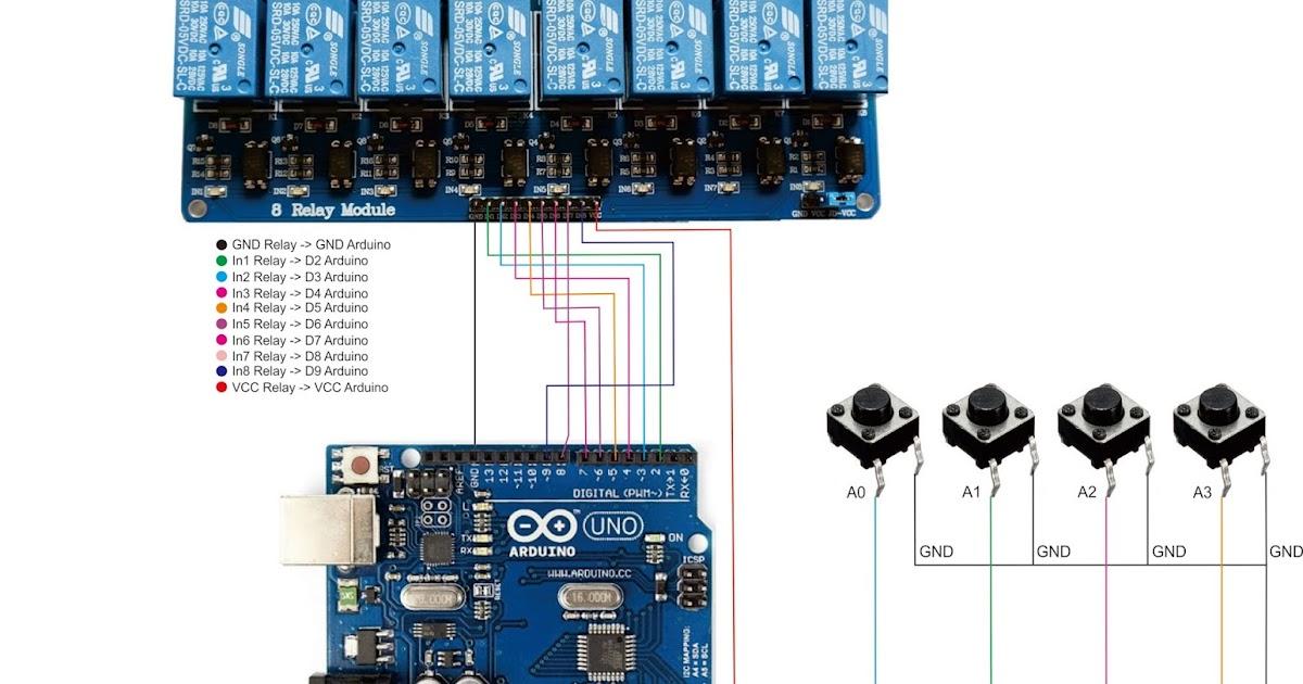 Programmable Timer 8Channel dengan Arduino Uno | Belajar Arduino
