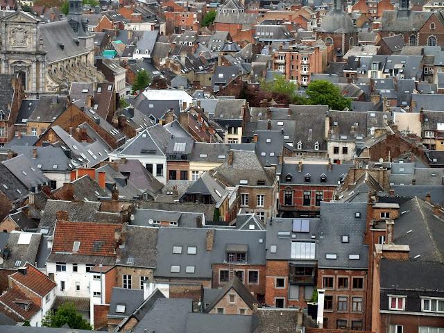 bonitos tejados de la ciudad de Namur