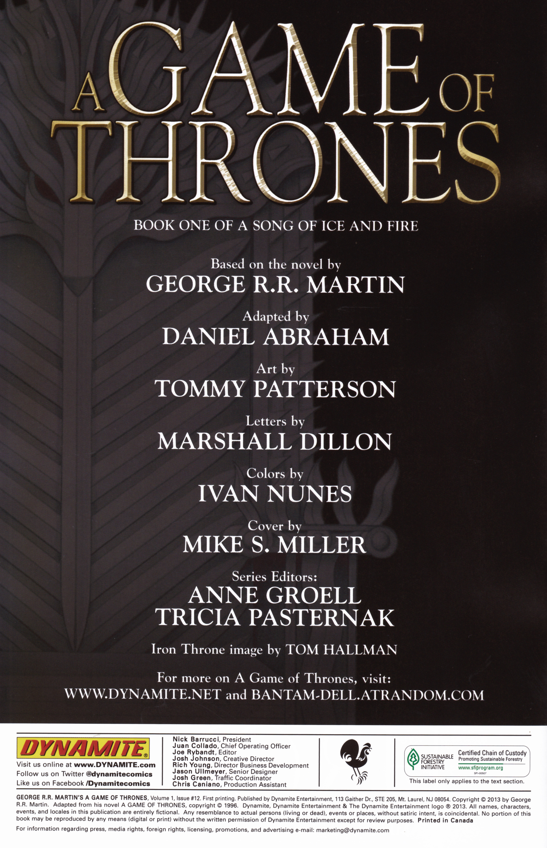 Read online A Game Of Thrones comic -  Issue #12 - 2