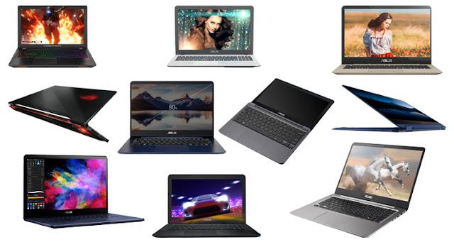 10 Laptop Asus Terbaik Tahun 2019