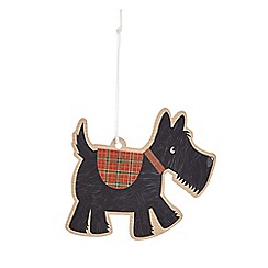 Scotty dog gift tag