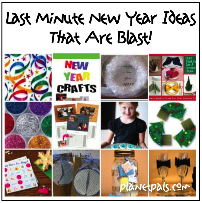 Fab and Fun Collection ideas or any New Year Party with Friends, Family or Kids. Activities, tablesetting, crafts, clever!