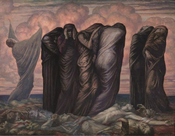 Les Mères by Jean Delville, Macabre Art, Macabre Paintings, Horror Paintings, Freak Art, Freak Paintings, Horror Picture, Terror Pictures