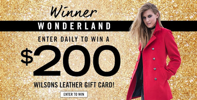 WILSONS LEATHER WINNER WONDERLAND GIVEAWAY